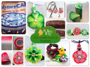 WIP Wednesday: Polymer Clay Caned Flowers & More at KatersAcres Polymer Clay Studio