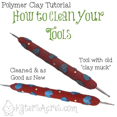 How to Clean Your Polymer Clay Tools by KatersAcres
