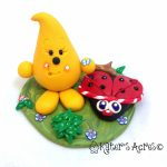 Parker BUG Series StoryBook Scene - Handmade Polymer Clay  Figurine by KatersAcres | Day 8 in Parker's BUGGY Adventure