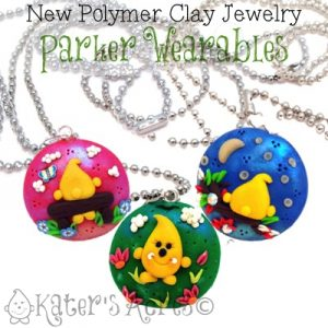 Parker Wearable Polymer Clay Jewelry by KatersAcres | Available for adoption, Made to Order Pendants