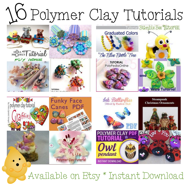 16 Polymer Clay Tutorials | Available on Etsy, Instant Downloads