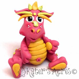 """Petunia"" Polymer Clay Dragon by KatersAcres"