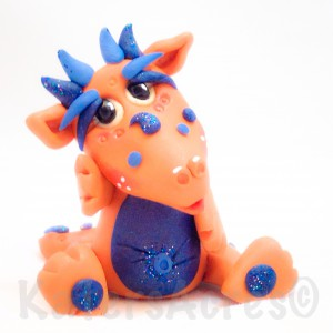 """""""Juice"""" Polymer Clay Dragon by KatersAcres"""