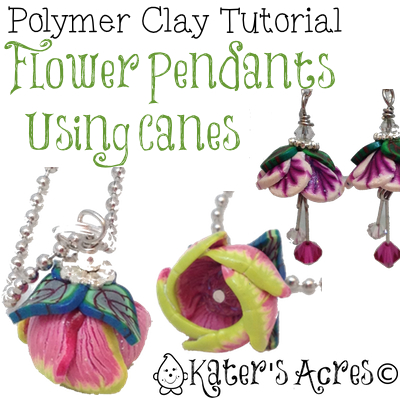 Flower Cane Pendants & Earrings Video Tutorial by KatersAcres
