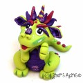 Rita - Polymer Clay Dragon | Handmade by Katie of Kater's Acres