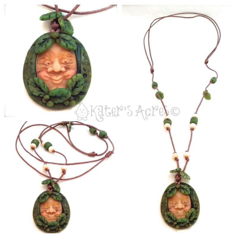 Old Man in Jade Necklace by KatersAcres | Faux Jade Recipe included in post