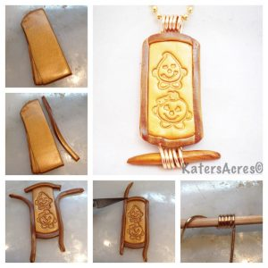 Polymer Clay Cartouche Tutorial Steps by KatersAcres
