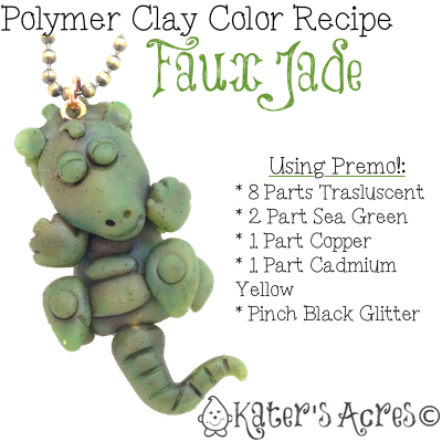 Polymer Clay Color Recipe for Faux Jade