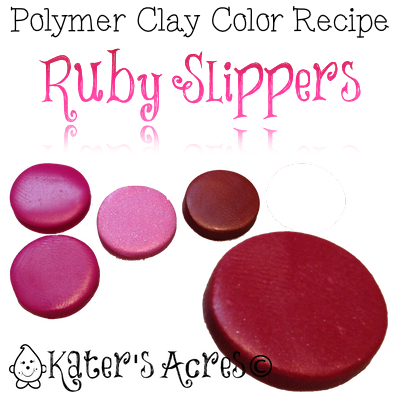 Polymer Clay Color Recipe for Ruby Slippers by KatersAcres   Find Out How to Make This Unique Color