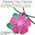 Striped Flower Petal Cane Tutorial by KatersAcres