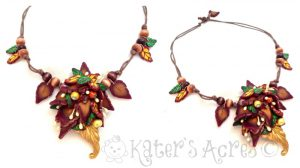 Polymer Clay Tutorial: Fall Fantasy Pendant by KatersAcres