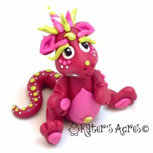 "Polymer Clay Dragon, ""Ruby"" Handmade by KatersAcres"