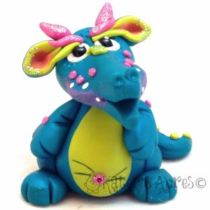 Meet Limery the Polymer Clay Dragon by KatersAcres
