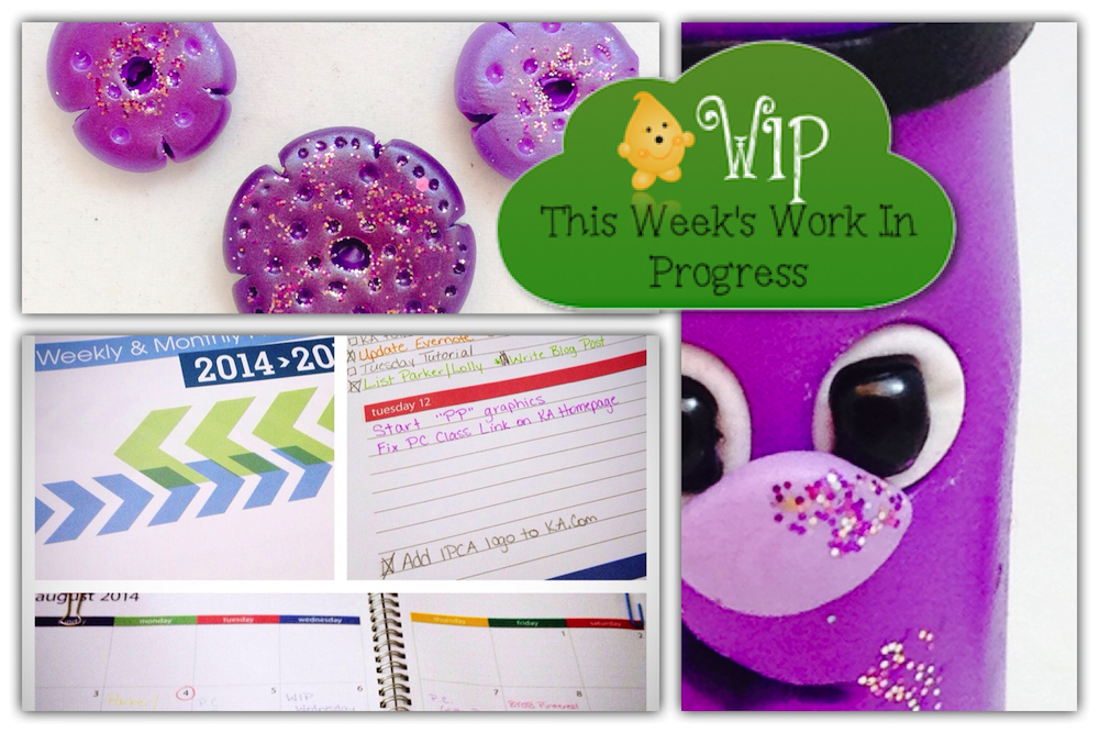 WIP Wednesday in KatersAcres Polymer Clay Studio | A Short & Sick Week, Yuck!