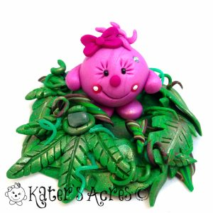 Jungle Lolly StoryBook Scene | Handmade Polymer Clay Figurine by KatersAcres