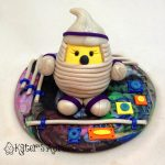 Parker Spaceman Polymer Clay StoryBook Scene by KatersAcres
