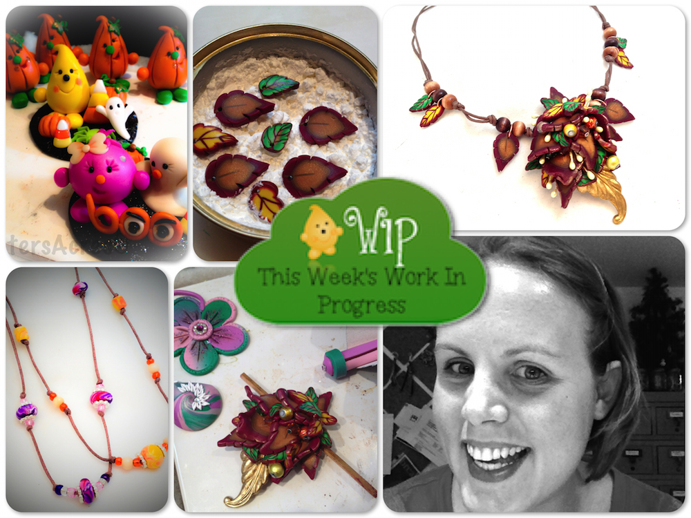 WIP Wednesday in KatersAcres Polymer Clay Studio | Prepping for fall & Halloween