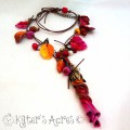 Boho Fall Festival Polymer Clay Necklace by KatersAcres