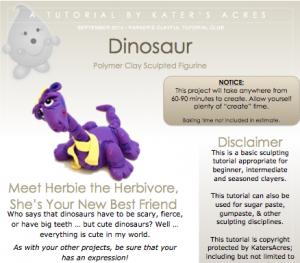 Polymer Clay Dinosaur Tutorial PDF Preview