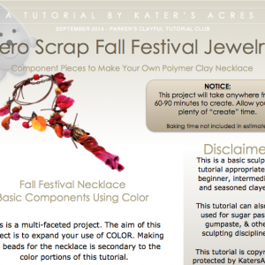 Polymer Clay Fall Festival Jewelry Tutorial Supplemental PDF Preview