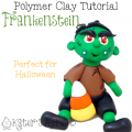 Polymer Clay Frankenstein Tutorial by KatersAcres | For polymer clay, fondant, & other sculpting mediums