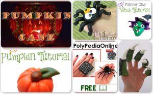 21 Halloween Polymer Clay Tutorials - Quad 3