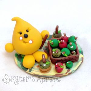 Parker's Apple Harvest Polymer Clay StoryBook Scene by KatersAcres