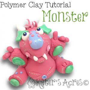 Polymer Clay Monster Tutorial by KatersAcres