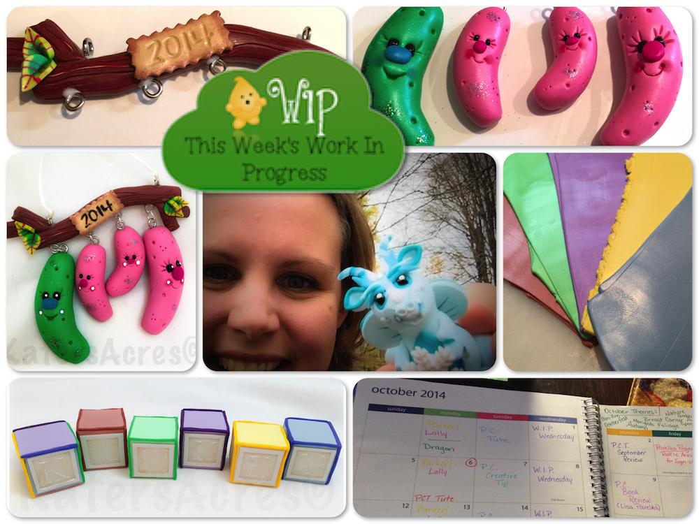 WIP Wednesday in KatersAcres Polymer Clay Studio | Last Minute Orders