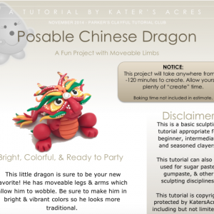 Posable Polymer Clay Chinese Dragon Tutorial by KatersAcres PREVIEW