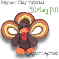 Polymer Clay Thanksgiving Turkey Pin Tutorial by KatersAcres