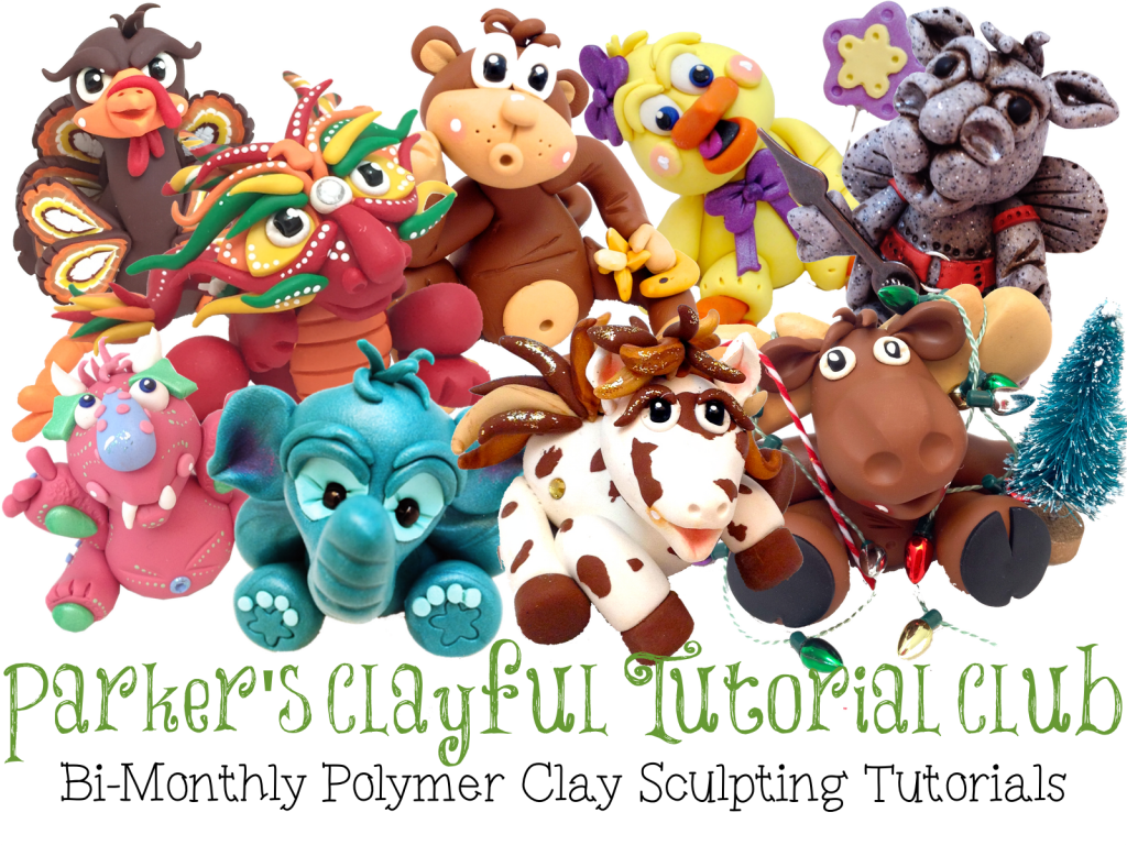 Parker's Clayful Tutorials Club   Whimsical Sculptures YOU Can Create!