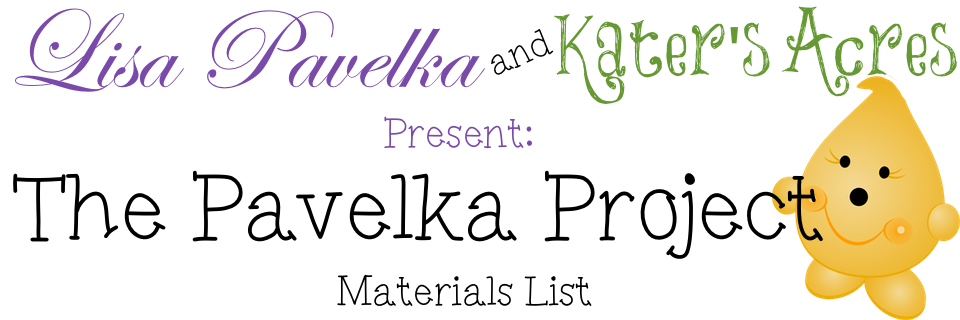 Pavelka Project Materials List for 2015