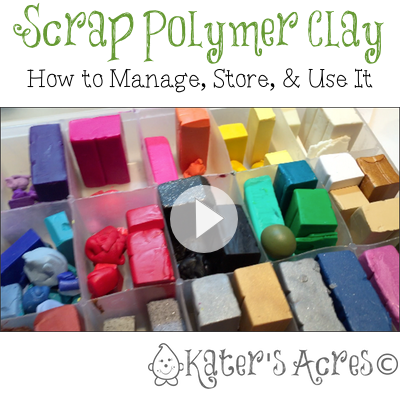A Better Way to Store & Use Scrap Polymer Clay by KatersAcres