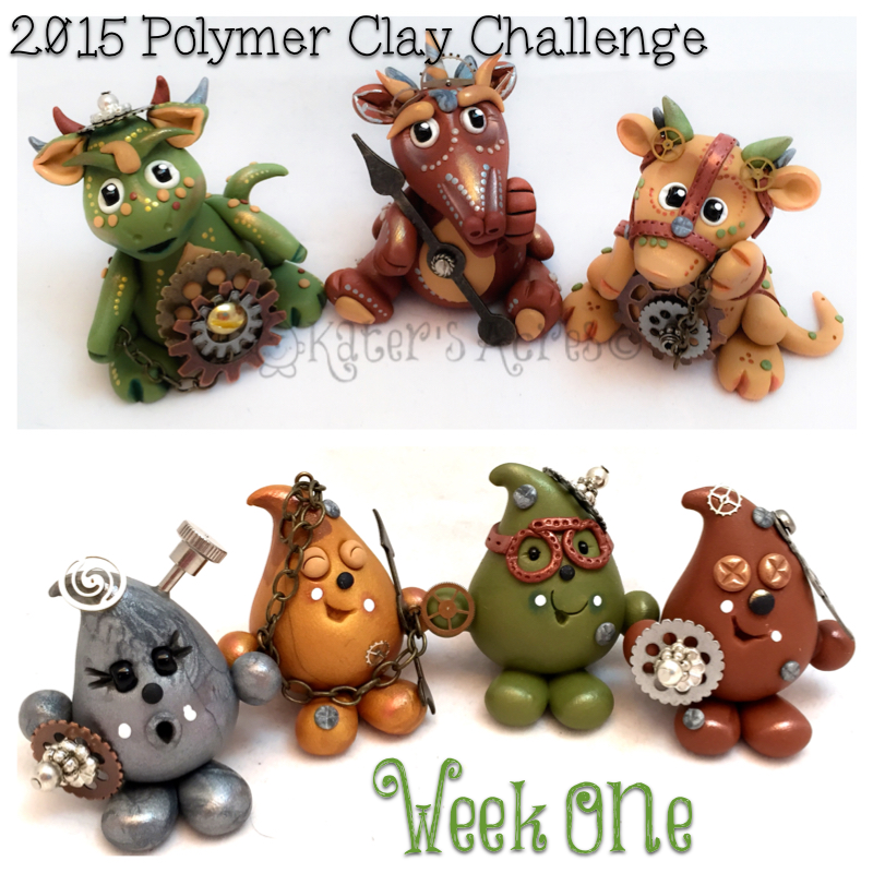 2015 Polymer Clay Challenge - Week 1 by KatersAcres