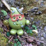 Steampunk Parker Figurine in Metallic Green by KatersAcres