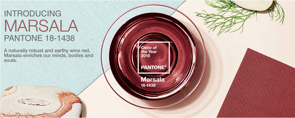 Pantone's 2015 Color of the Year, Marsala