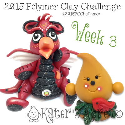 "2015 Polymer Clay Challenge - Week 3, ""Cardinal"" by KatersAcres"