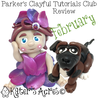 Parker's Clayful Tutorials - February 2015 Monthly Review | Monthly #PolymerClay Sculpting Club with KatersAcres