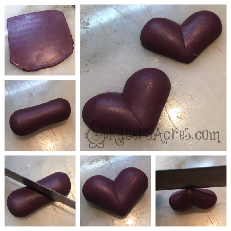 How to Make a Flat Backed Heart by KatersAcres | Adapted from PCPolyzine
