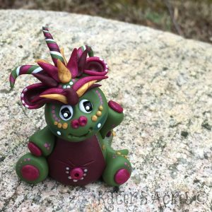 Olivia, Polymer Clay Dragon by KatersAcres