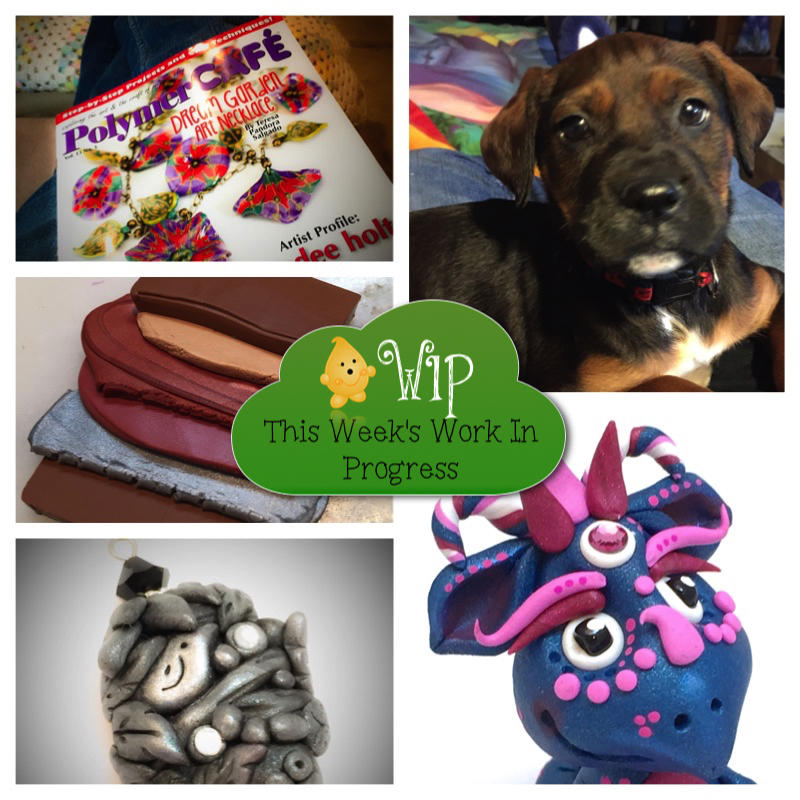 WIP Wednesday in Kater's Acres Polymer Clay Studio | New Puppy = No Work Gets Done