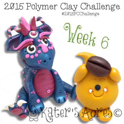 2015 Polymer Clay Challenge - Week 6 by KatersAcres | Meet Indigo & Coffee Bean Parker