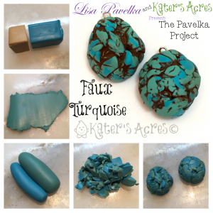 March Pavelka Project: Faux Turquoise Technique by KatersAcres