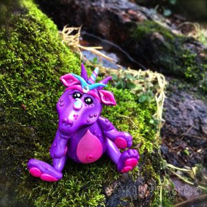 "Polymer Clay Dragon, ""Blossom"" by KatersAcres 
