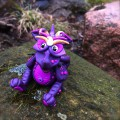 """Polymer Clay Dragon """"Masquerade"""" by Katie Oskin of KatersAcres 