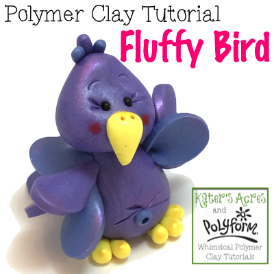 Polymer Clay Fluffy Bird Tutorial