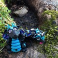Polymer Clay Dragons, Week 16 for #2015PCChallenge by KatersAcres | Handmade collectible dragons Glowfly & Wingy