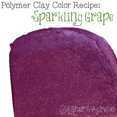 FREE Polymer Clay Sparkling Grape Color Recipe by KatersAcres