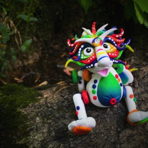 'BowRain' the Chinese Inspired Posable Dragon by KatersAcres